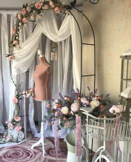 entrada arco flores portfolio