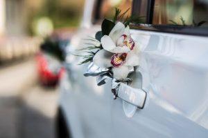 Decoración de coche boda