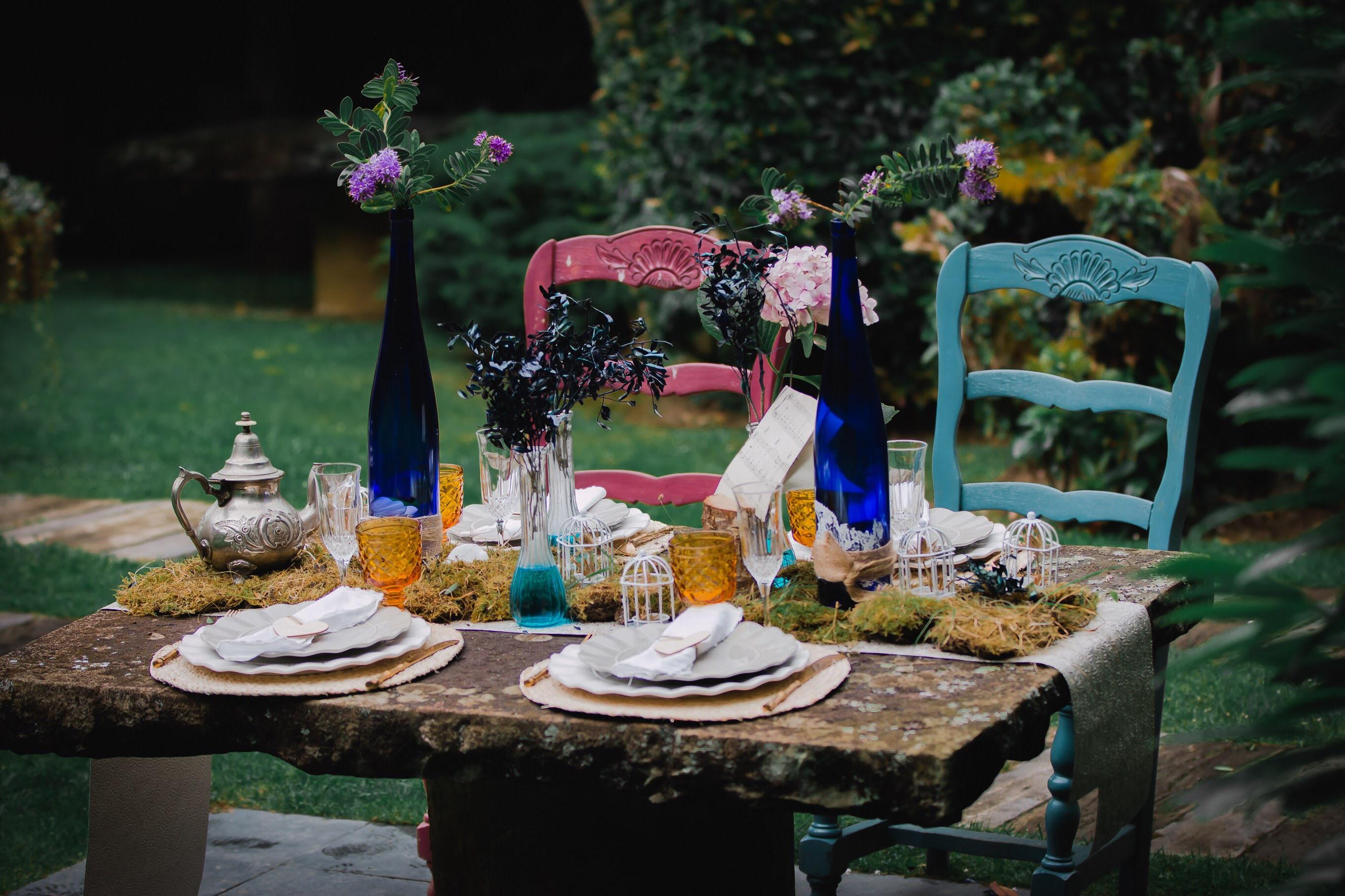 Mesa romántica de boda