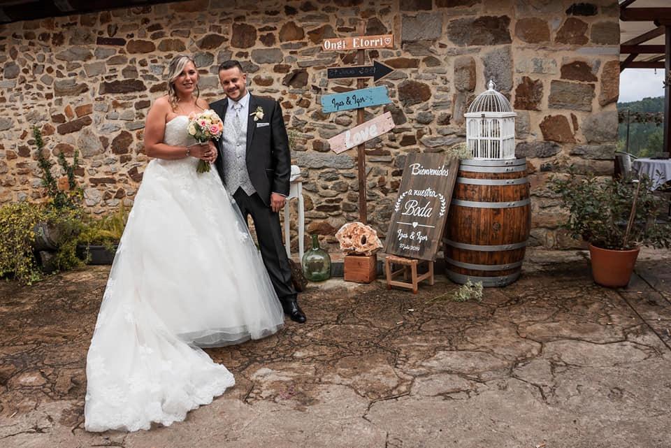 Decoración rústica en boda de verano