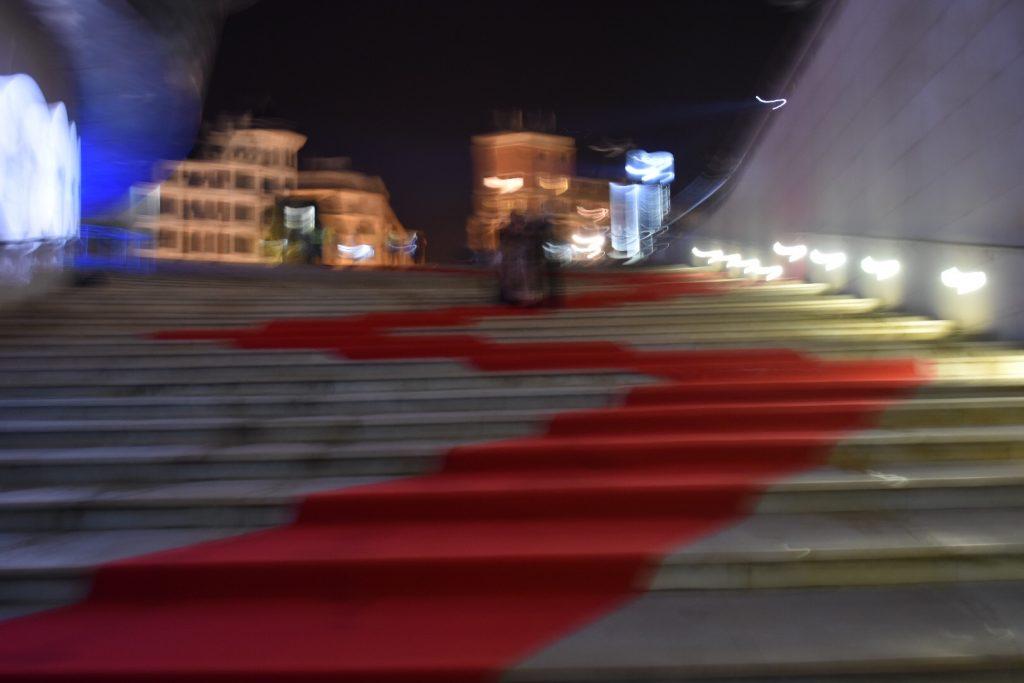 Alfombra roja en el Guggenheim