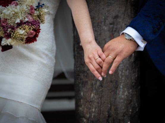 Pareja de novios el día de su boda