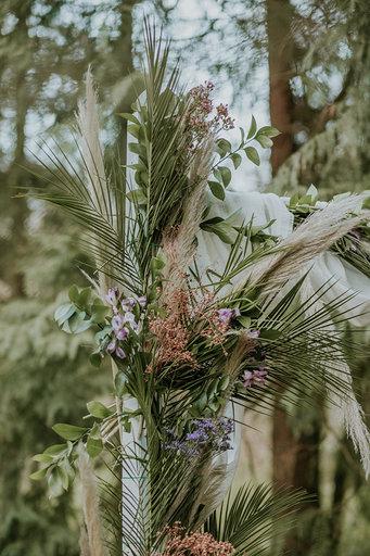 Detalle de arco floral