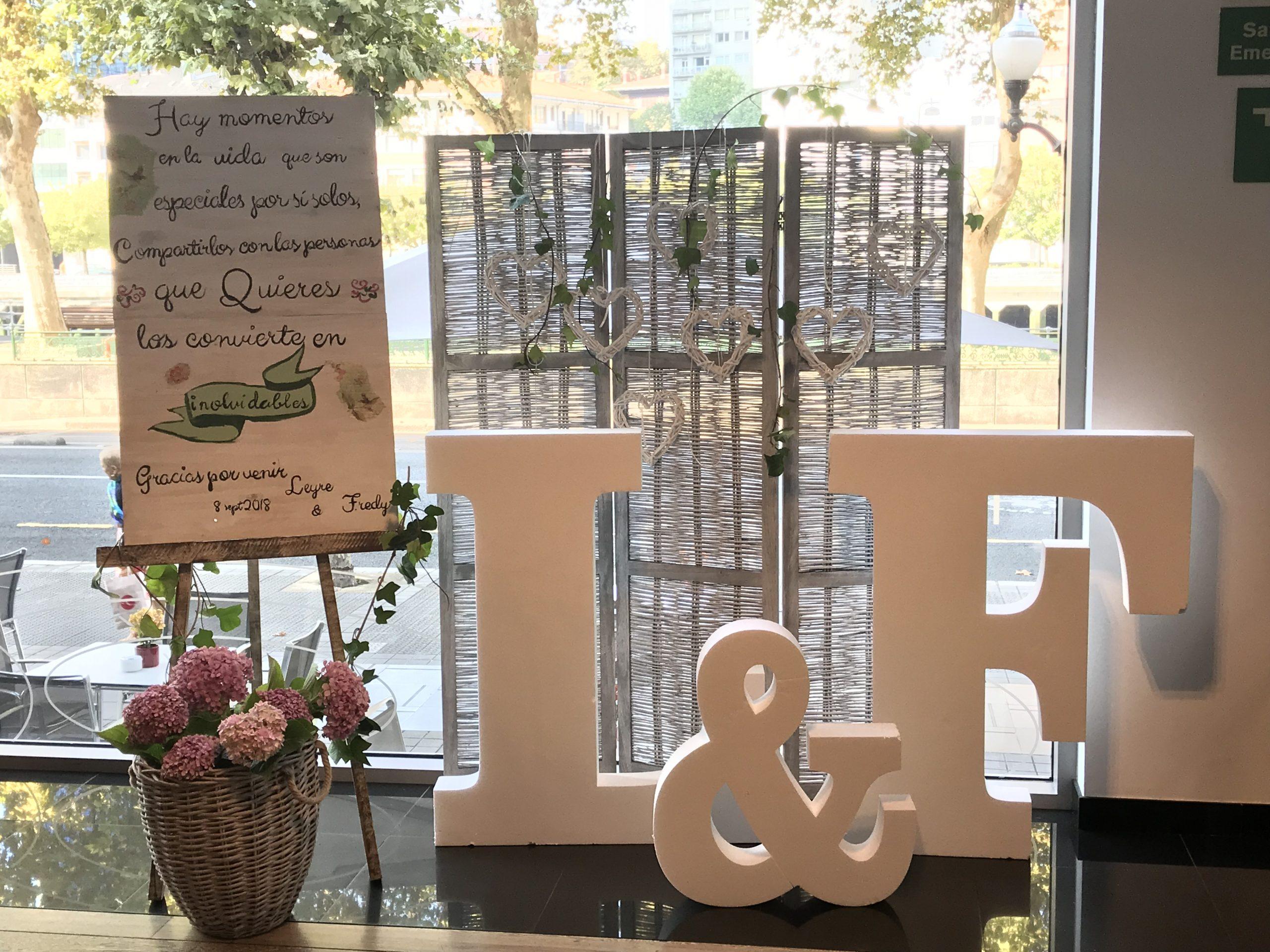 Decoración boda romantica
